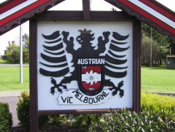 (Photo © D. Nutting) Austrian Club sign